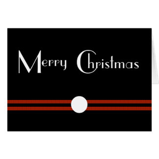 Art Deco Merry Christmas Custom Greeting Card