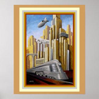 Art Deco Metropolis Theme Poster 16 x 20
