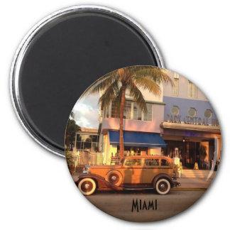 Art Deco Miami Beach 6 Cm Round Magnet