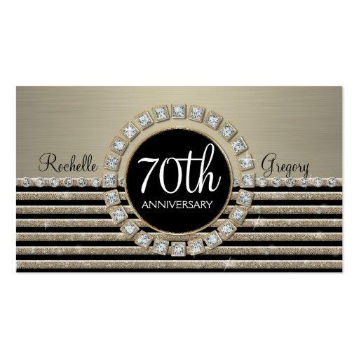 Art Deco Modern Horizontal Stripe Glitter Look Business Card Templates