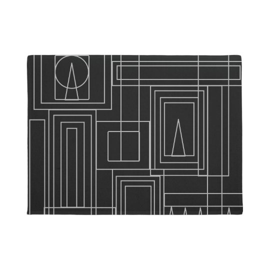 Art Deco Monochrome Door Mat