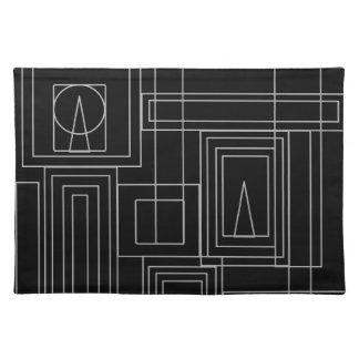 Art Deco Monochrome Place Mat