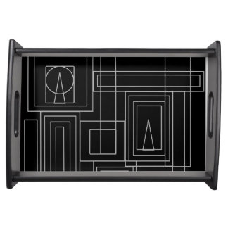 Art Deco Monochrome Serving Tray