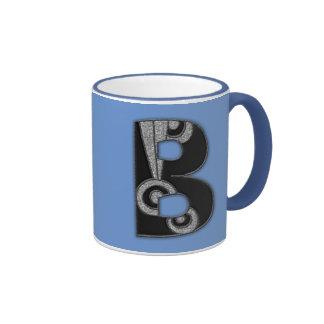 art deco monogram - B Mugs
