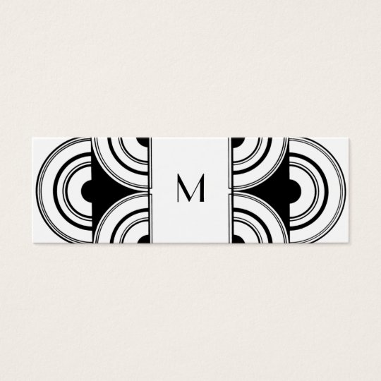 Art deco Monogram Calling Card