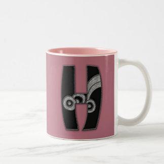 art deco monogram - H Coffee Mugs