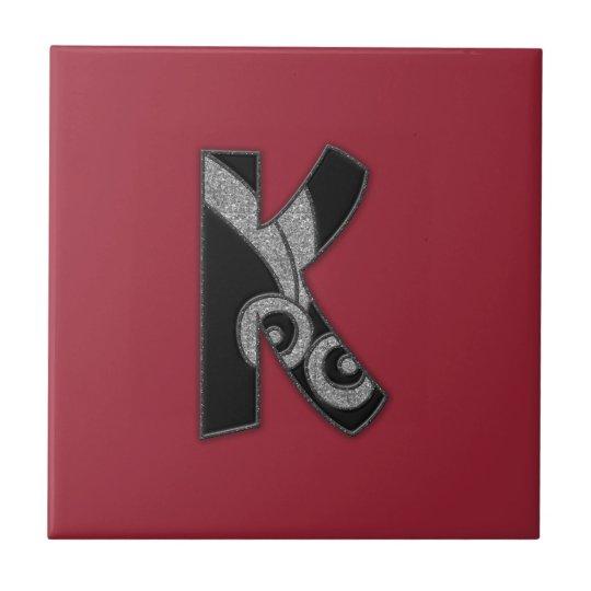 art deco monogram - K Tile