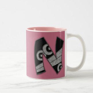 art deco monogram - N Coffee Mug