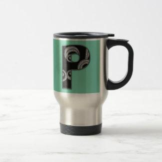 art deco monogram - P Mug
