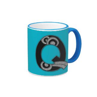 art deco monogram - Q Mugs