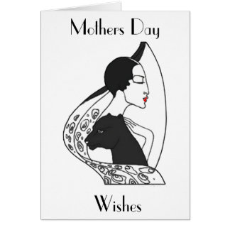 ART DECO MOTHERS DAY GREETING CARD