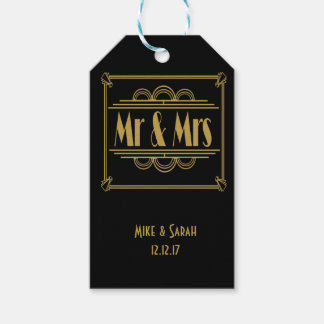 Art deco Mr & Mrs Gift Tag