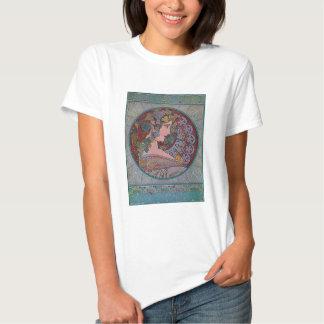 Art Deco Mucha Woman mosaic Shirts