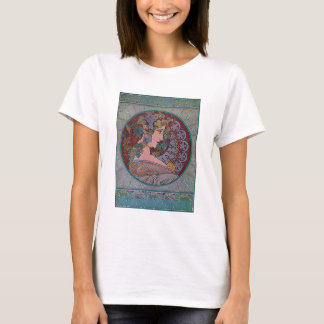 Art Deco Mucha Woman mosaic T-Shirt