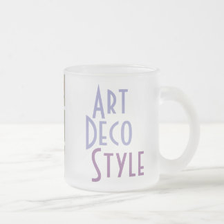 ART DECO  mug (frosted glass)