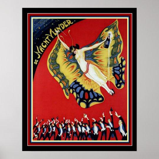 Art Deco Nacht Vunder Circus Poster 16 x 20