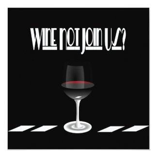 Art Deco Noir Chic Cocktail Party 5.25x5.25 Square Paper Invitation Card