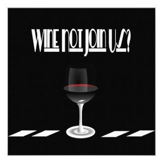 Art Deco Noir Chic Cocktail Party Invites
