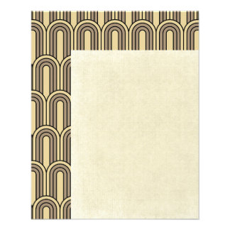art deco,nouveau,gold,black,vintage,pattern,chic,e 11.5 cm x 14 cm flyer