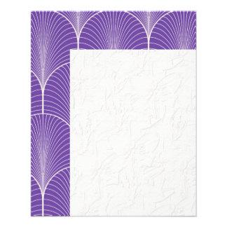 art deco,nouveau,pattern,purple,white,vintage,chic 11.5 cm x 14 cm flyer