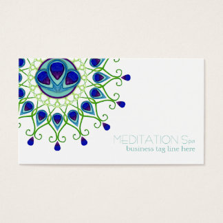 Art Deco Nouveau Peacock Feather Modern Business Business Card