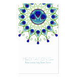 Art Deco Nouveau Peacock Feather Modern Business Pack Of Standard Business Cards