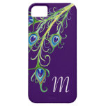 Art Deco Nouveau Style Peacock Feathers Swirl iPhone 5 Cover