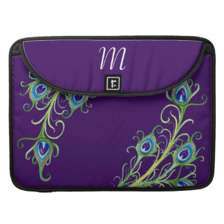 Art Deco Nouveau Style Peacock Feathers Swirl Sleeve For MacBook Pro