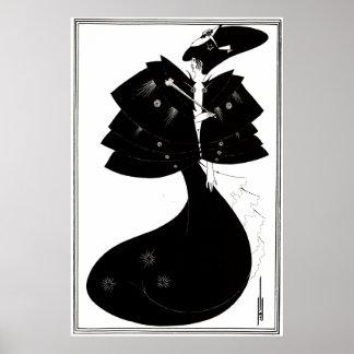 Art Deco/Nouveau ~ The Black Cape by Beardsley Poster