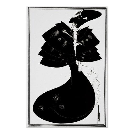 Art Deco/Nouveau ~ The Black Cape by Beardsley