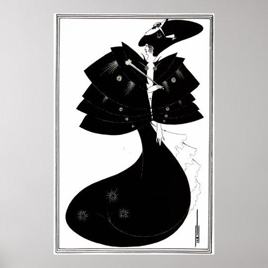 Art Deco/Nouveau ~ The Black Cape by Beardsley