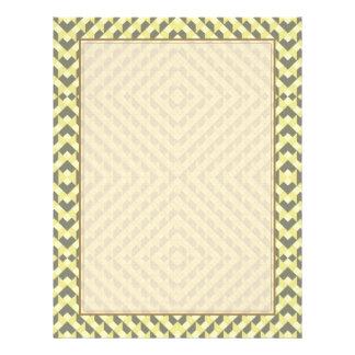 Art Deco Op Art - Yellow and Gray 21.5 Cm X 28 Cm Flyer