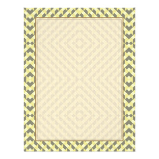 Art Deco Op Art - Yellow and Gray 21.5 Cm X 28 Cm Flyer