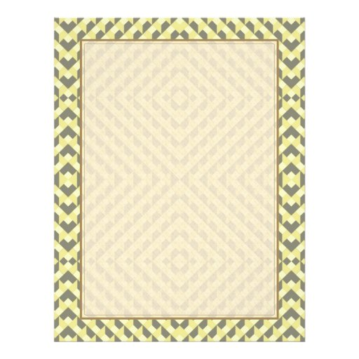 Art Deco Op Art - Yellow and Gray Personalized Flyer