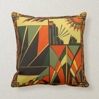 Art Deco Orange Cushion