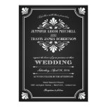 Art Deco Ornate Chalkboard Wedding Invitations
