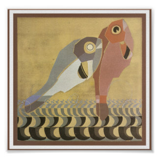 Art Deco Pair of Fish Posters