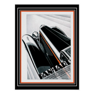 Art Deco Panhard Ad- Alexis Kow (1932) Poster