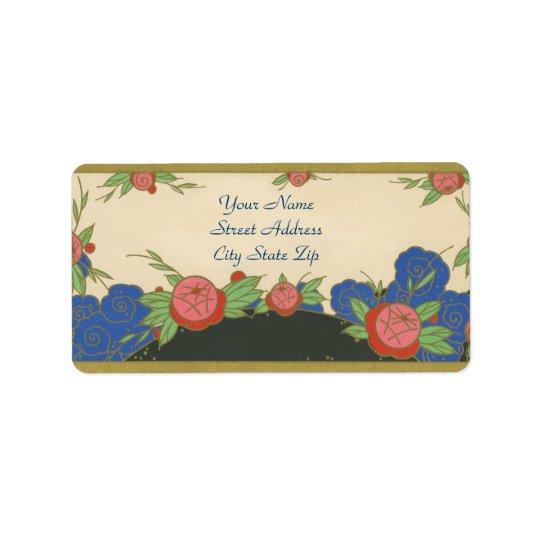 Art Deco Paris Roses Address Label