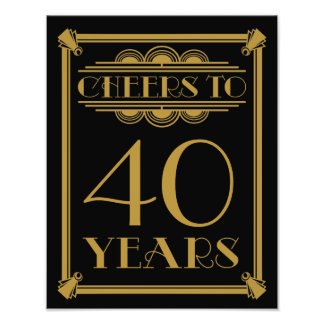 art deco party sign happy birthday cheers to 60