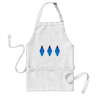Art Deco pattern 3 in blue Standard Apron