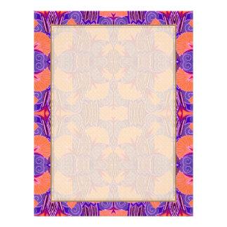 Art Deco Pattern - Bold Purple and Orange Flyer