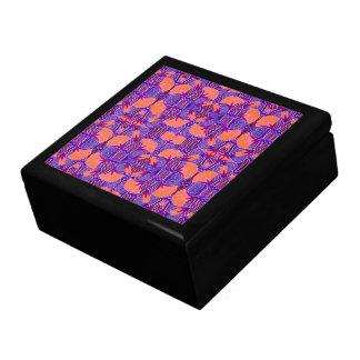 Art Deco Pattern - Bold Purple and Orange Gift Box