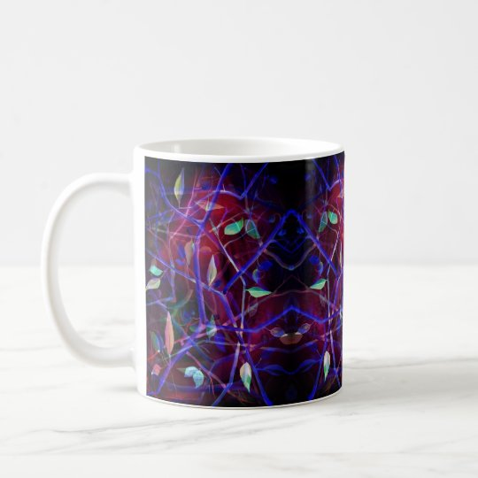 Art Deco pattern - burgundy abstract leaves Coffee