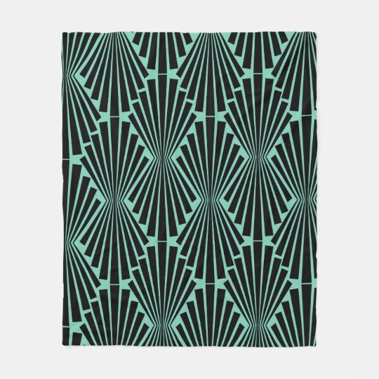Art Deco Pattern Fleece Blanket
