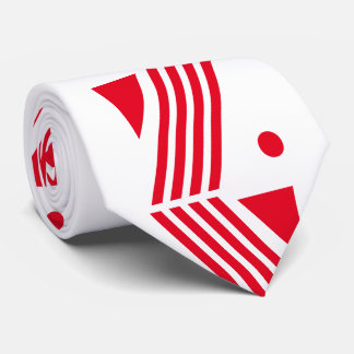 art deco pattern in festive white red tie