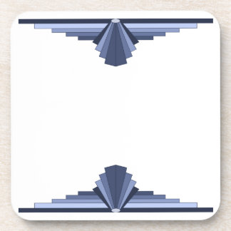 Art Deco Pattern in Grey-Blues Coaster