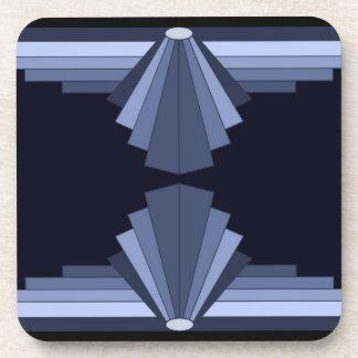 Art Deco Pattern in Grey-Blues Coaster