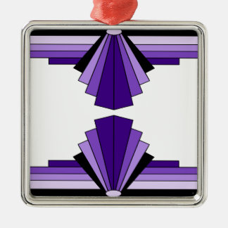 Art Deco Pattern in Purples Christmas Ornament