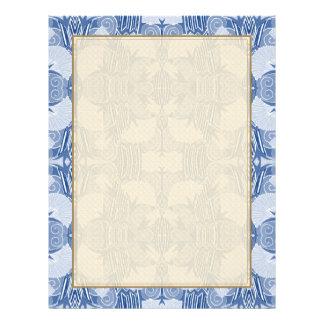 Art Deco Pattern - Light Blue Shades 21.5 Cm X 28 Cm Flyer